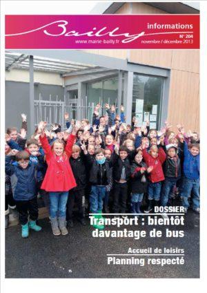 Bailly informations n°204 (Nov-Déc. 2013)