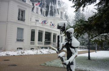 Bailly sous la neige