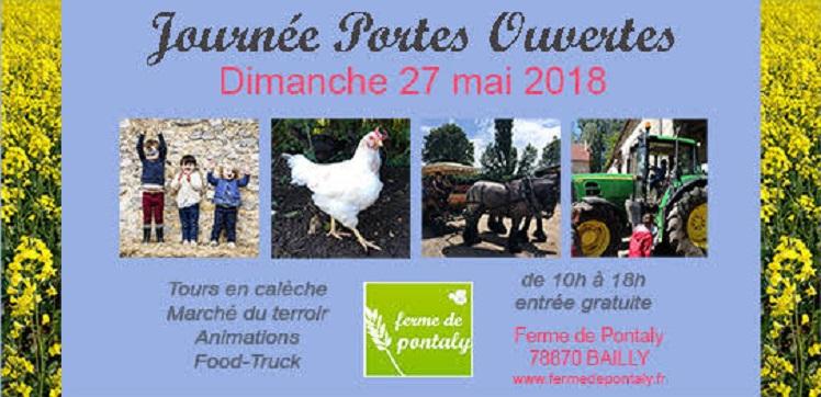 Journée portes ouvertes à la ferme de Pontaly, le 27 mai 2018