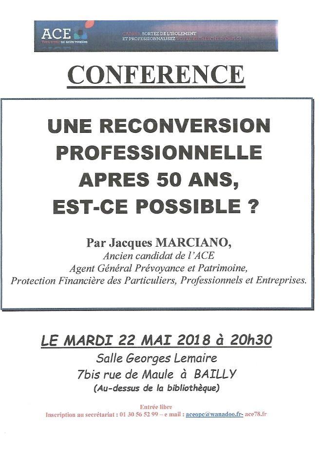 Conférence : Reconversion professionnelle après 50 ans ?