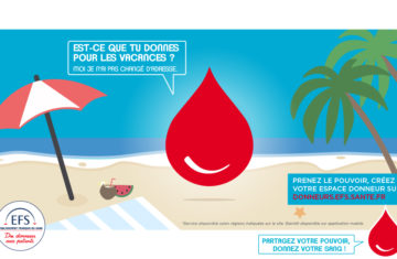 Pensez à donner votre sang pendant les vacances !