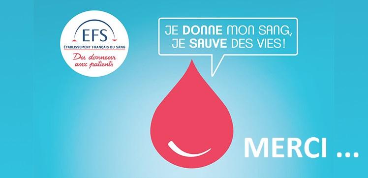 Première collecte de don du sang à Bailly : MERCI !