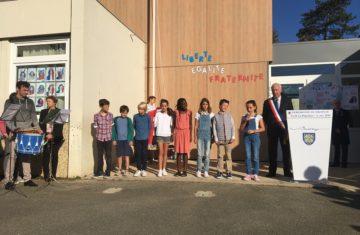 Cérémonie du drapeau à l'école élémentaire de la Pépinière