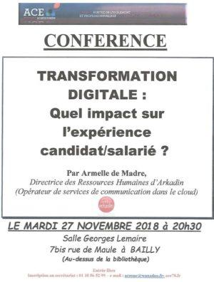 Conférence ACE sur la transformation digitale