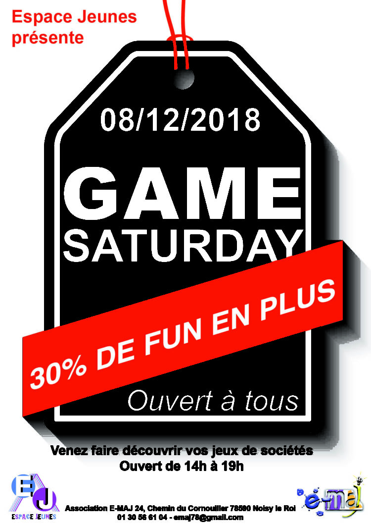 Espaces Jeunes – Game Saturday