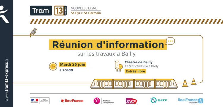TRAM 13 EXPRESS : Réunion publique le 25 juin