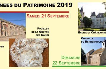 Journées du patrimoine 2019