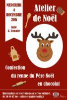 Atelier de Noël : Renne en chocolat