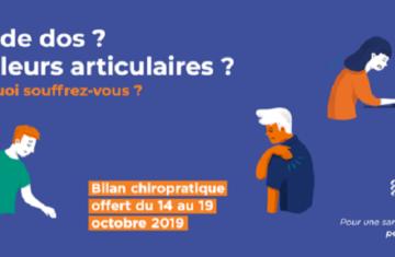 Adopter la bonne posture avec les chiropracteurs mobilisés du 14 au 19 octobre 2019 !