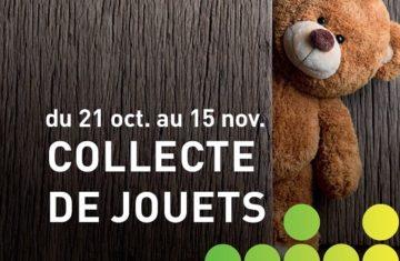 Collecte de jouets jusqu'au 15 novembre