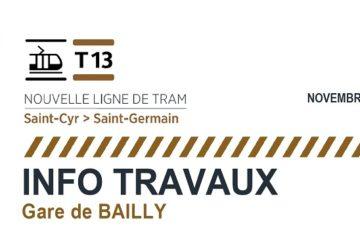 TRAVAUX TRAM 13 EXPRESS : Occupation d'une partie du parking des Fontenelles