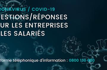 Covid-19 – Message destiné aux entreprises et associations