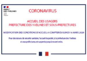 Service d'accueil des usagers à la préfecture des Yvelines et les sous-préfectures