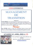 VISIOCONFERENCE AVEC ACE  » MANAGEMENT DE TRANSITION «