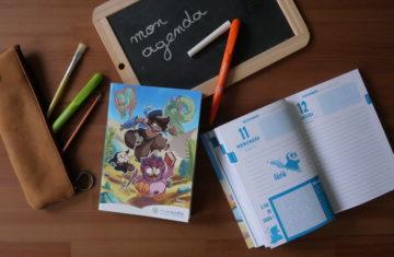 Agenda scolaire : Le héros Golam sensibilise les élèves au développement durable