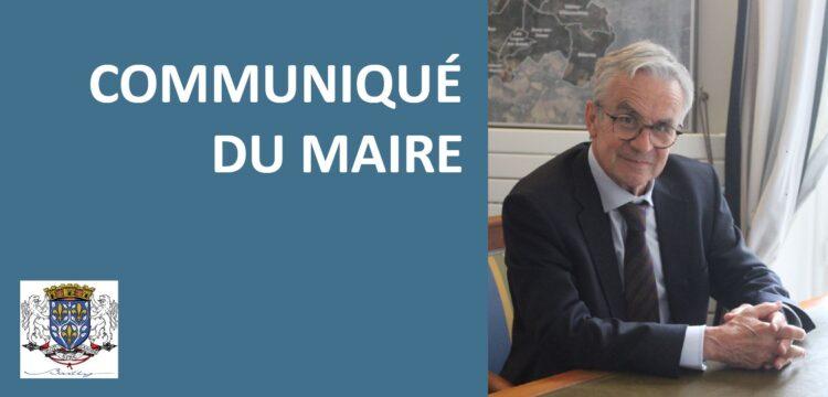 Communiqué du maire du 26 février : Augmentation des cas positifs à Bailly