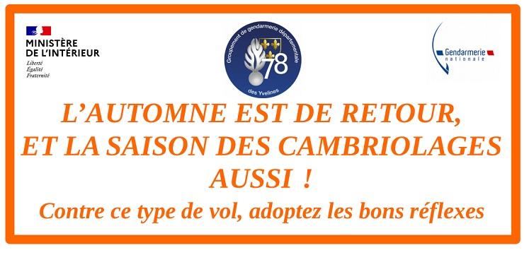 L'AUTOMNE EST DE RETOUR, ET LA SAISON DES CAMBRIOLAGES AUSSI !