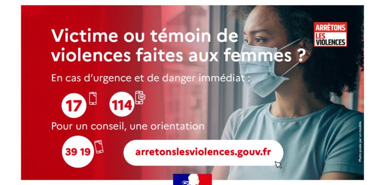 Confinement : lutte contre les violences faites aux femmes