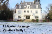 La neige s'invite à Bailly